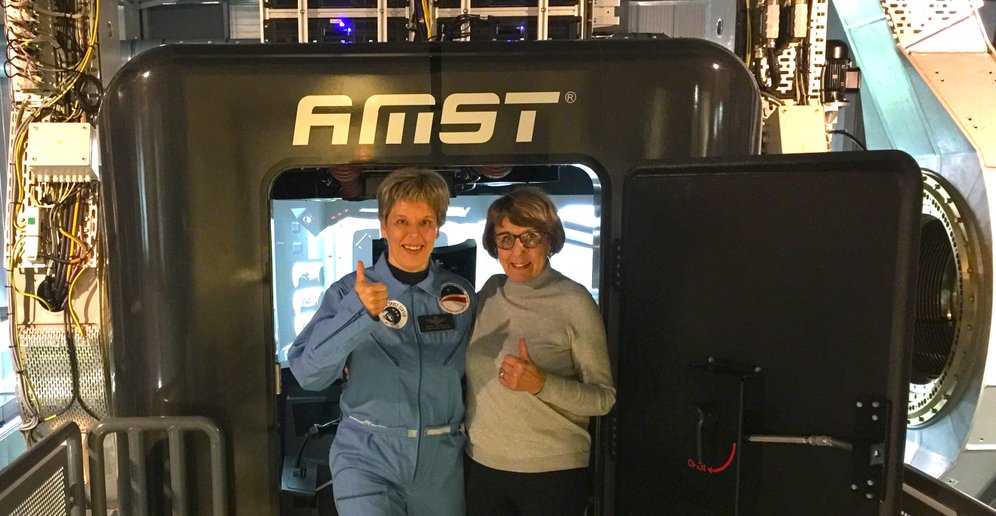 Private Astronaut Training Desdemona Soesterberg with the Space Training Academy of Nancy Vermeulen
